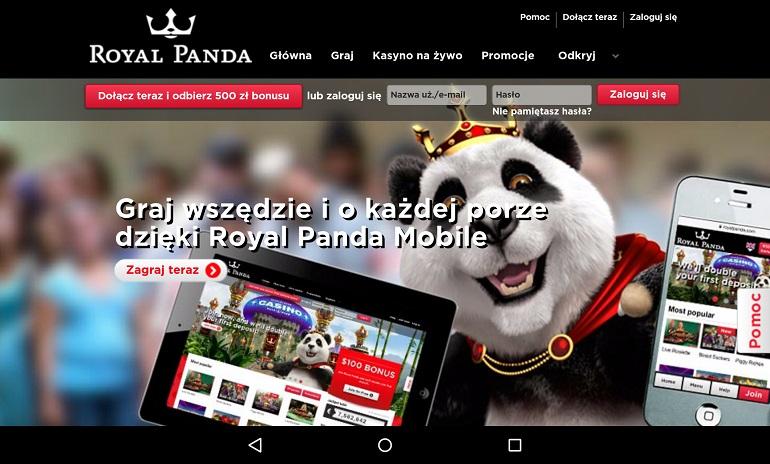 kasyno royal panda bonus
