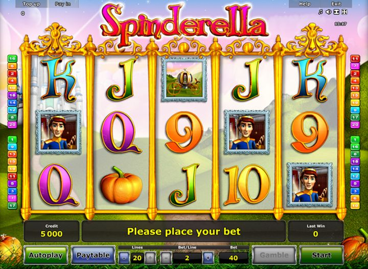 play online casino slots spinderella