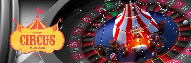netent circus live roulette