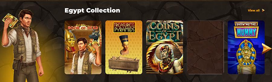 Dostępne egipskie automaty do gry w AmunRa