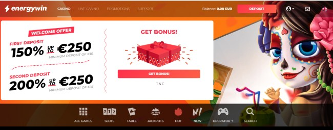 energywin bonus powitalny